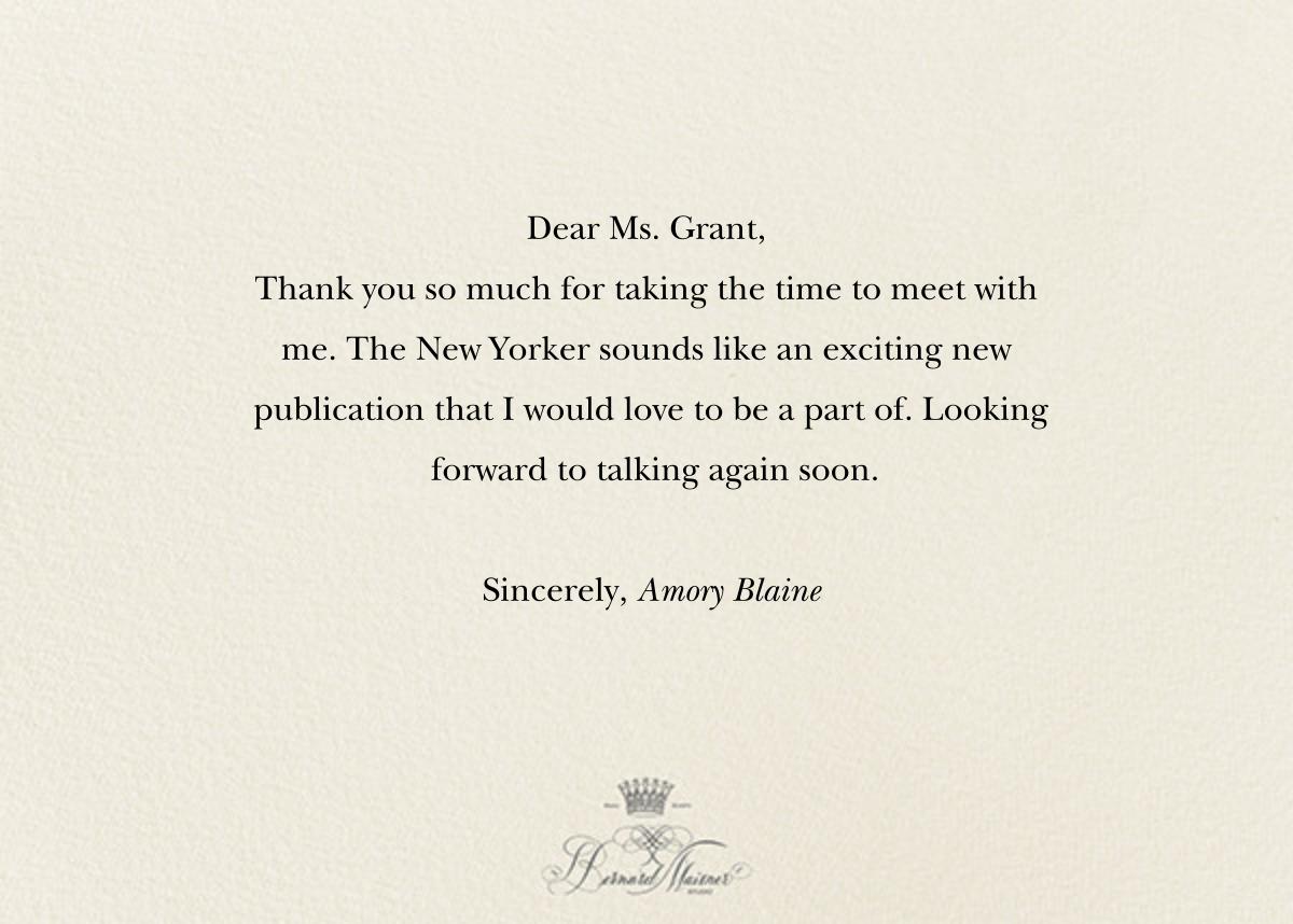 Thank You - Cream - Bernard Maisner - Thank you - card back