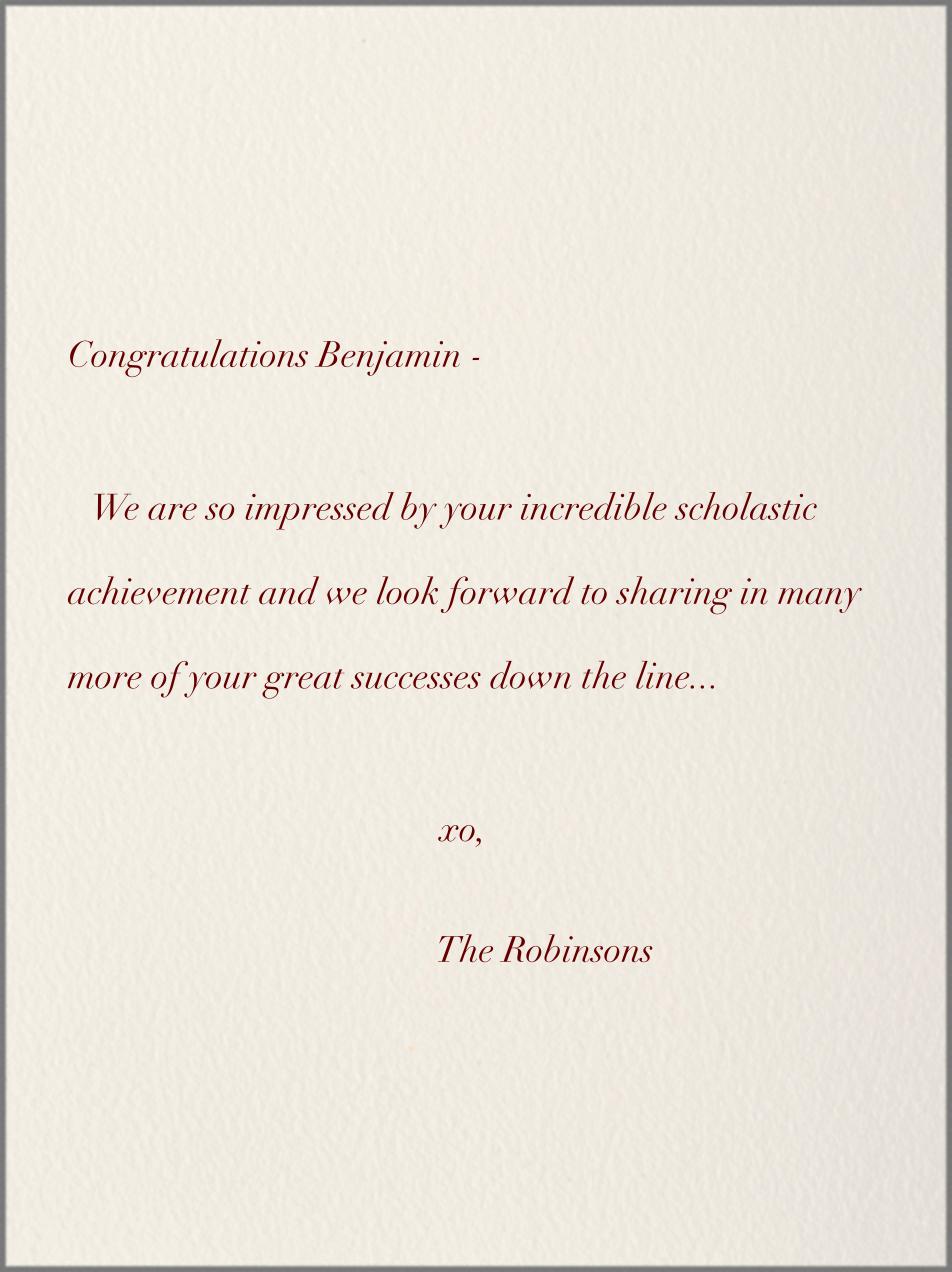 Wise Ass - Paperless Post - Graduation - card back