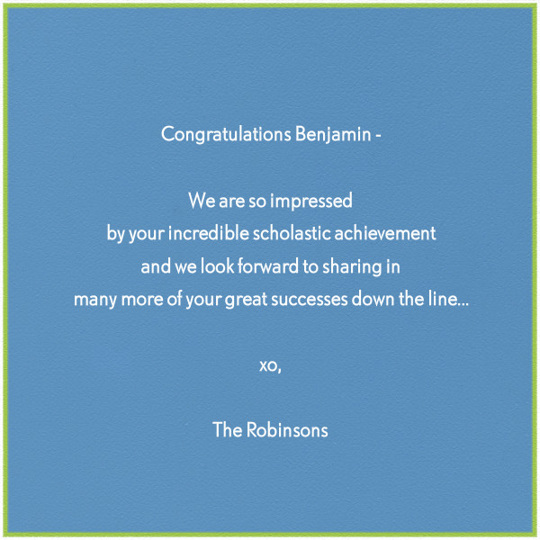 Wise Monkey - Paperless Post - Congratulations - card back