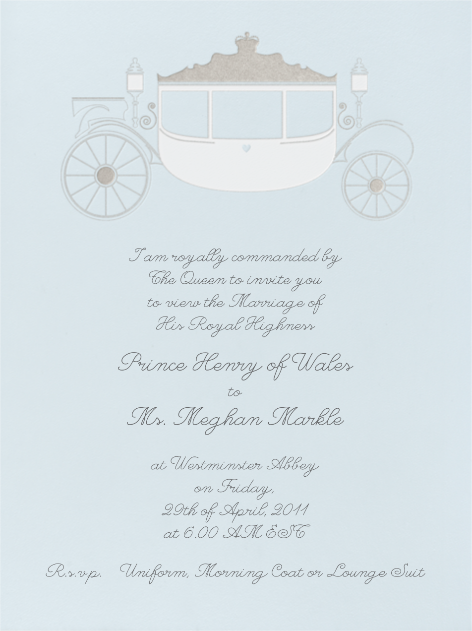 Carriage - Glacier - Paperless Post - Bridal shower