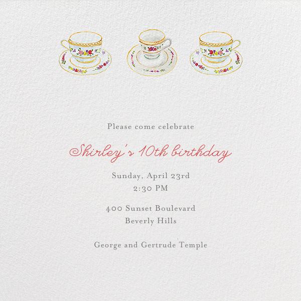 Three Cups of Tea - Paperless Post - Kids' birthday