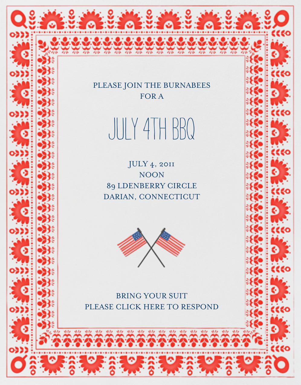 Betsy Ross Handy Work - Red - Mr. Boddington's Studio - Summer entertaining