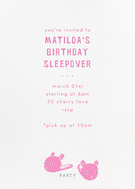 Bunny Slipper - Paperless Post - Kids' birthday