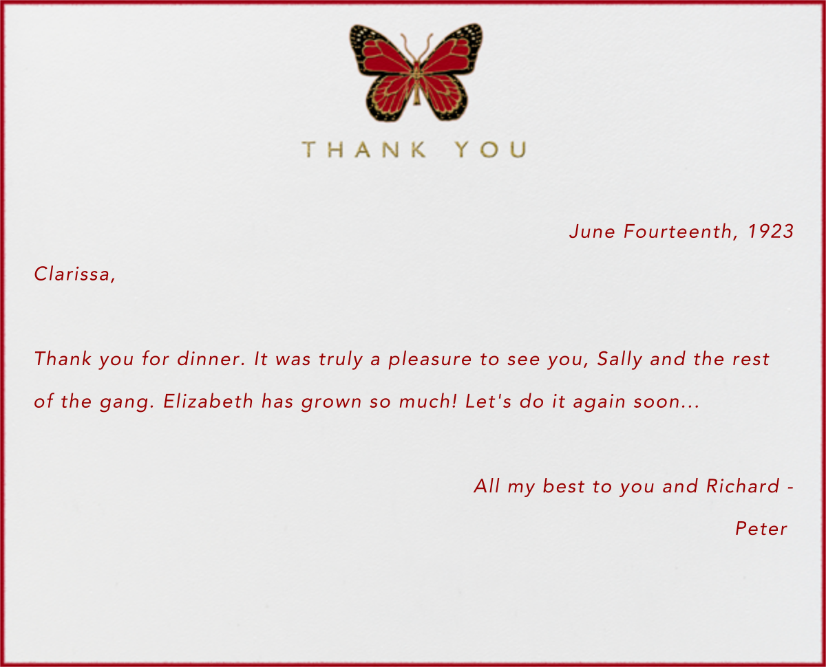 Butterfly Thank You - Paperless Post - General