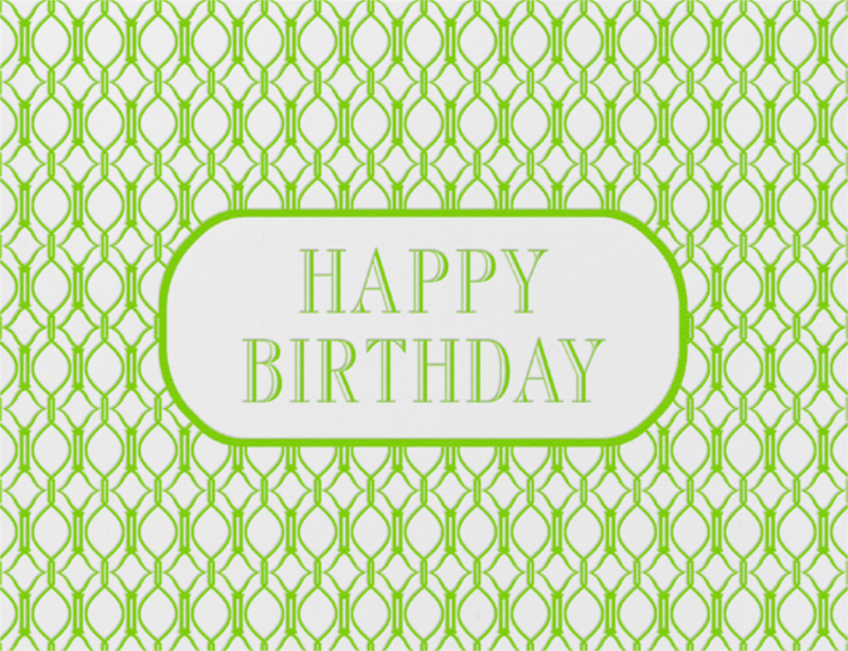 Cadogan (Leaf Green) - Paperless Post - Birthday