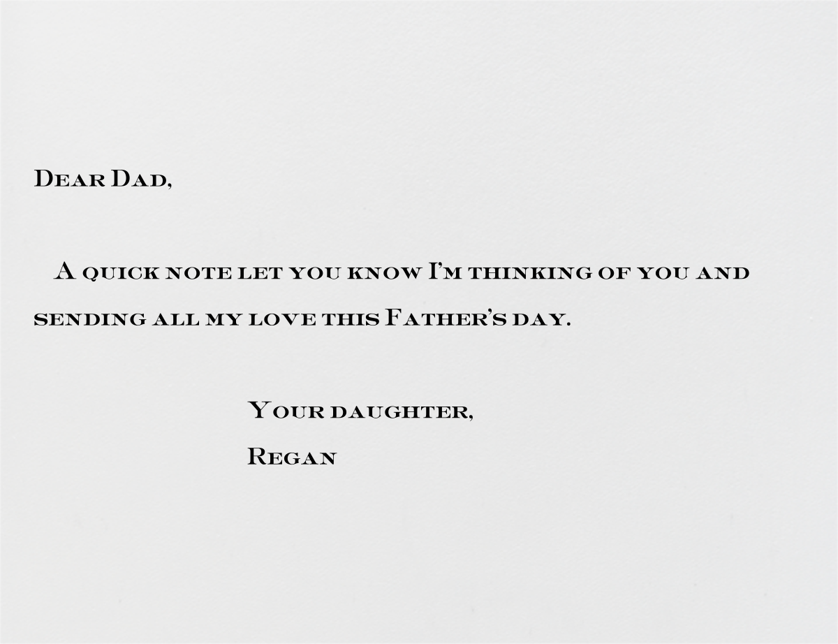 Cadogan (Navy) - Paperless Post - Father's Day - card back