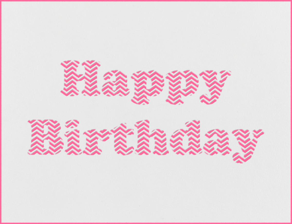 Chevron (Pink) - Paperless Post - Free birthday eCards