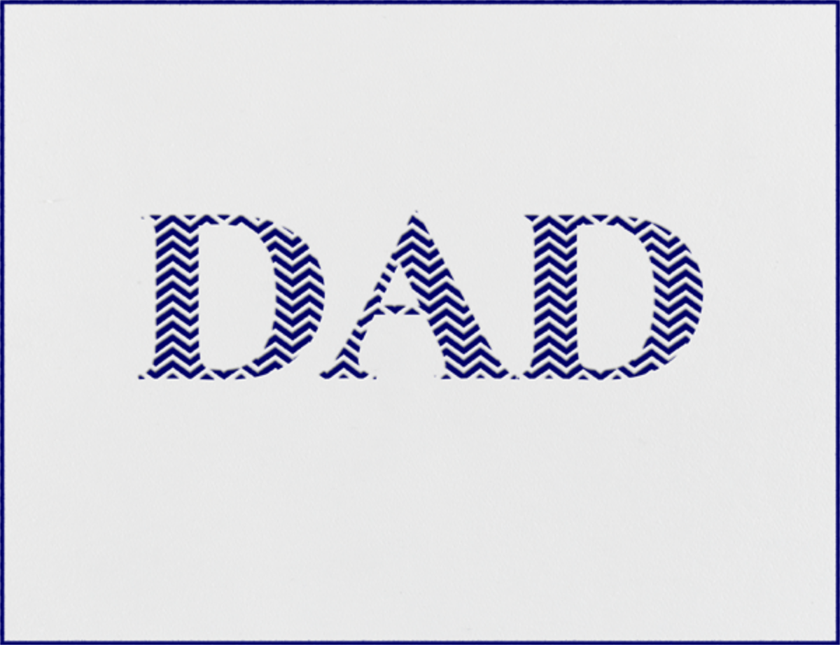 Chevron (Navy) - Paperless Post - Father's Day