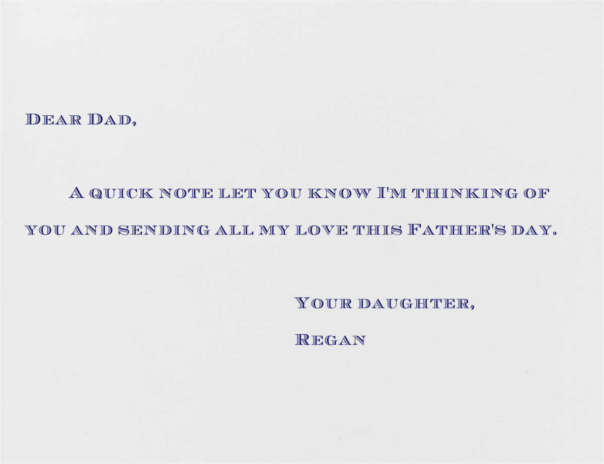 Chevron (Navy) - Paperless Post - Father's Day - card back