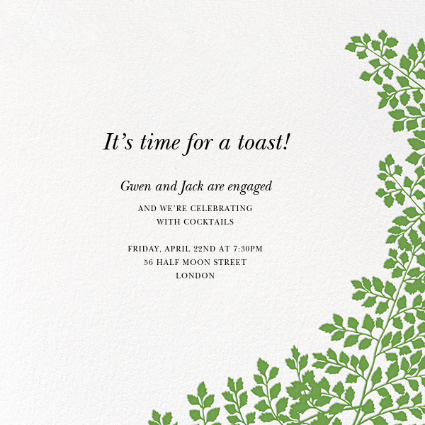 Fern II (Invitation) - Green - Paperless Post - Engagement party