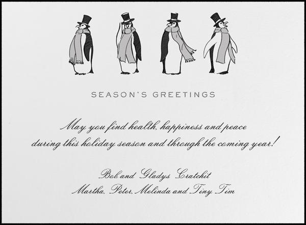Formal Penguins (Ivory) - Paperless Post