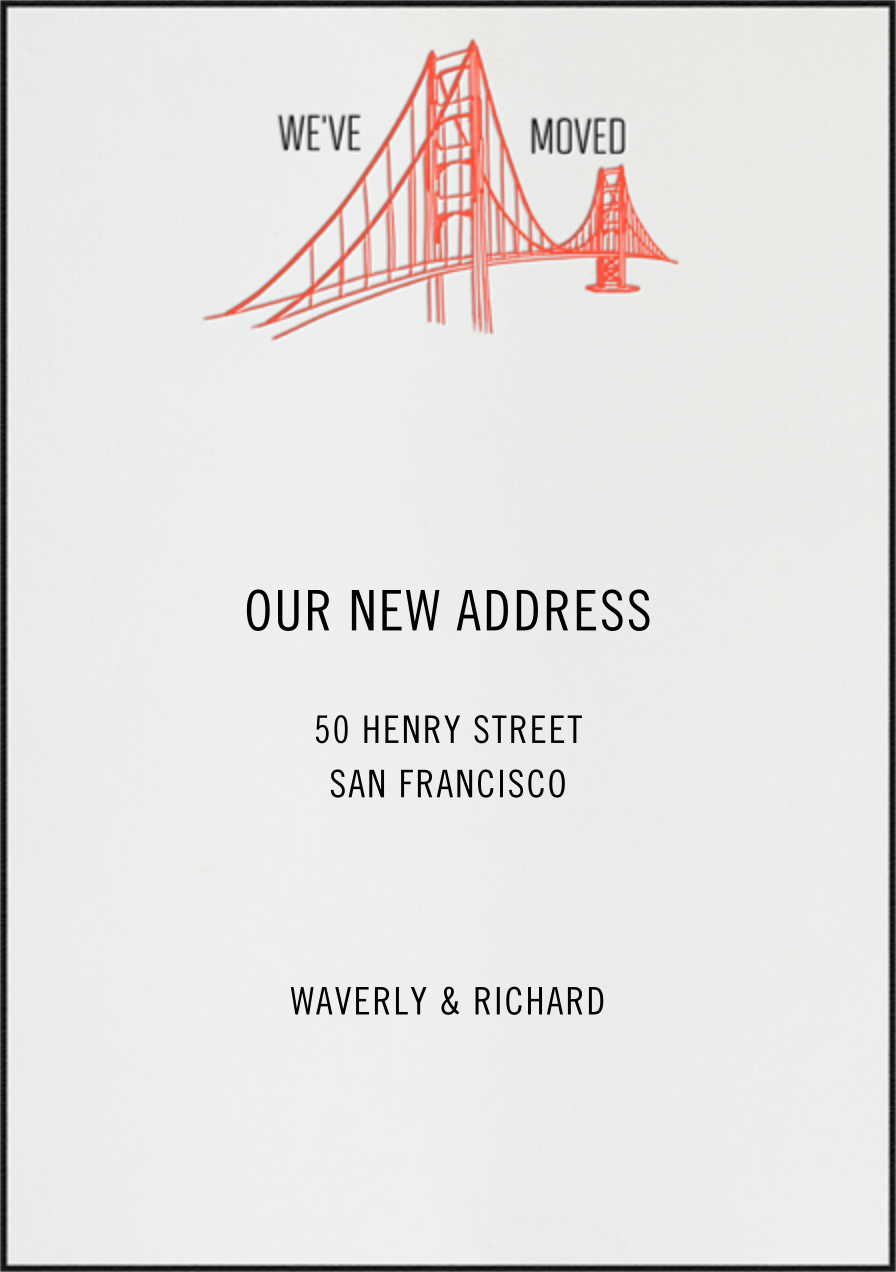 Golden Gate Bridge (Ivory) - Paperless Post - Moving