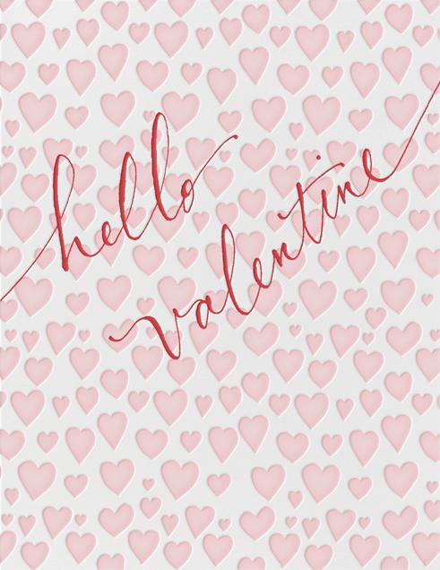 Hello Valentine - Pink - Linda and Harriett - Valentine's Day