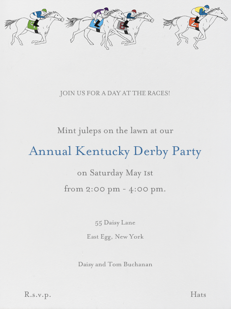 Horse Races - Paperless Post - Sports