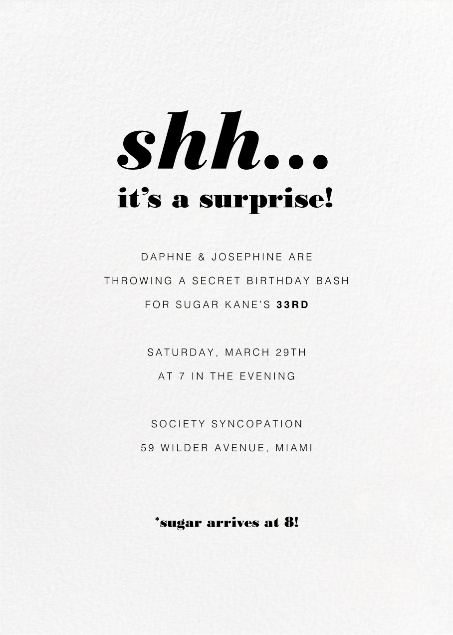 White (Tall) - Paperless Post - 50th birthday invitations