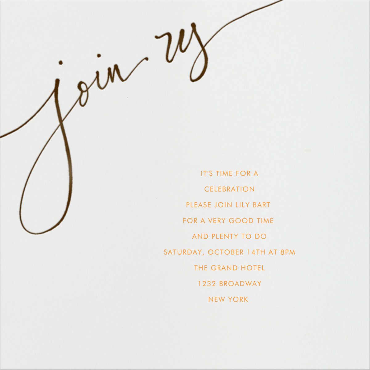 Join us - Brown - Linda and Harriett - Engagement party