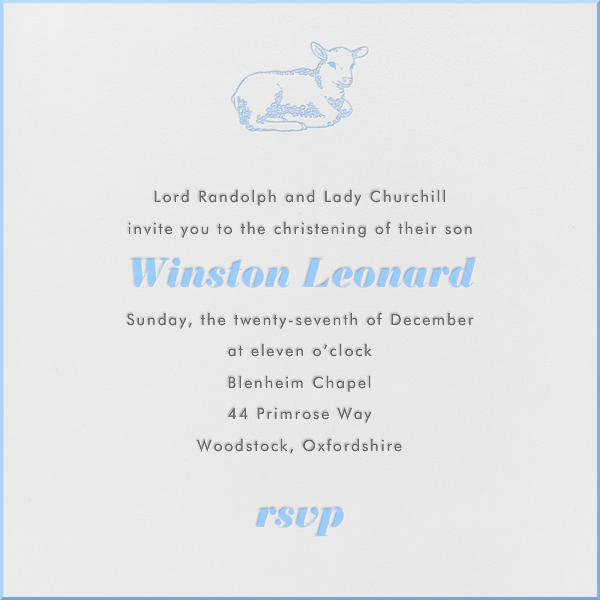 Little Lamb (Light Blue) - Paperless Post - Baptism