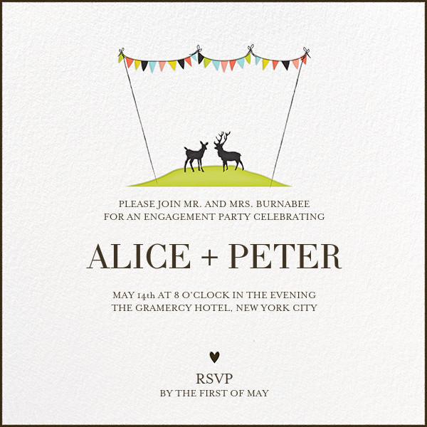 Mr and Mrs Deer - Lime - Mr. Boddington's Studio - Engagement party