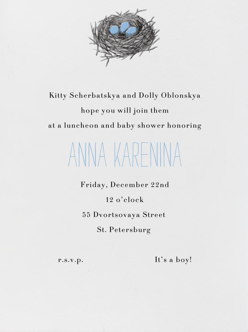 Nest (Blue) - Paperless Post - Baby shower