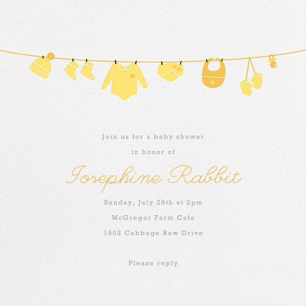Onesie - Yellow - Paperless Post - Baby shower