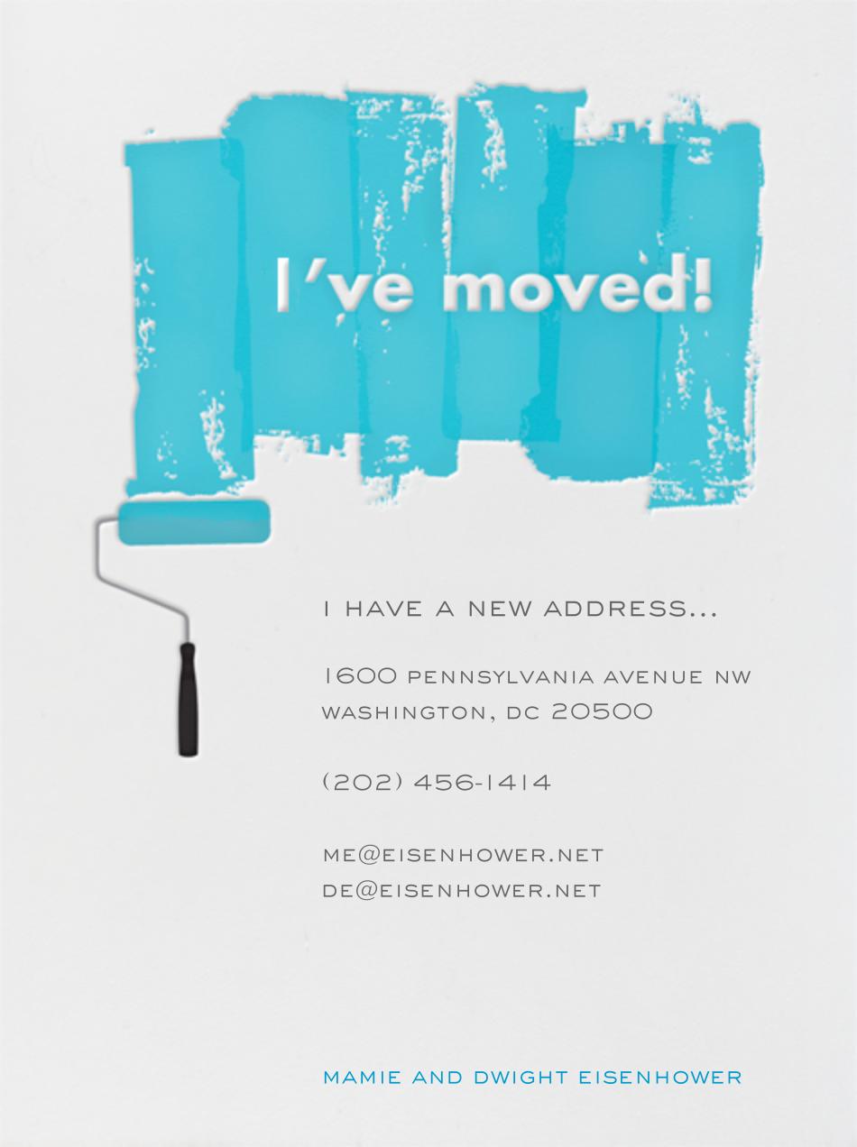 Paint Roller (Blue on Ivory) - Singular - Paperless Post - Moving