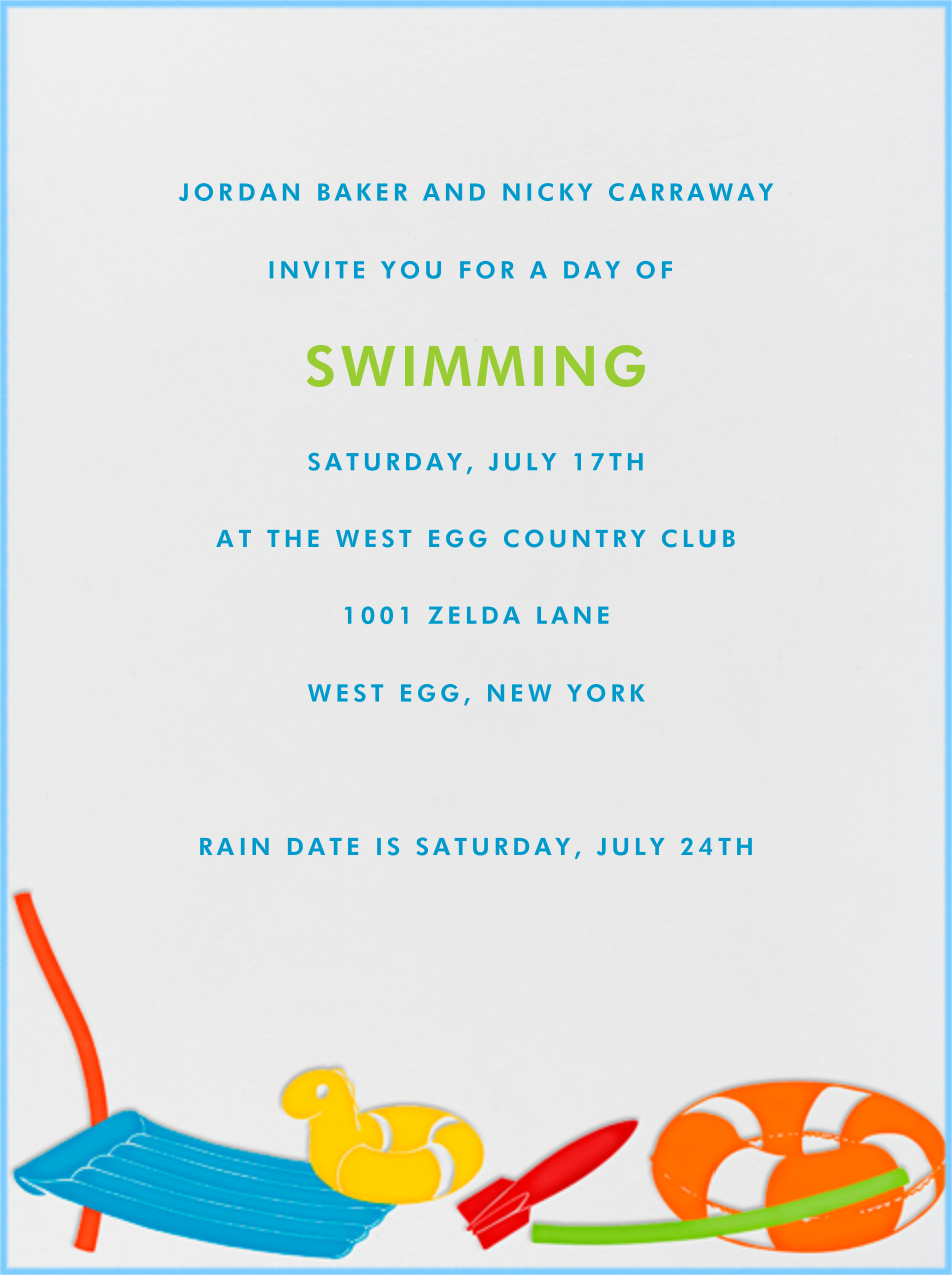Pool Toys - Paperless Post - Summer entertaining