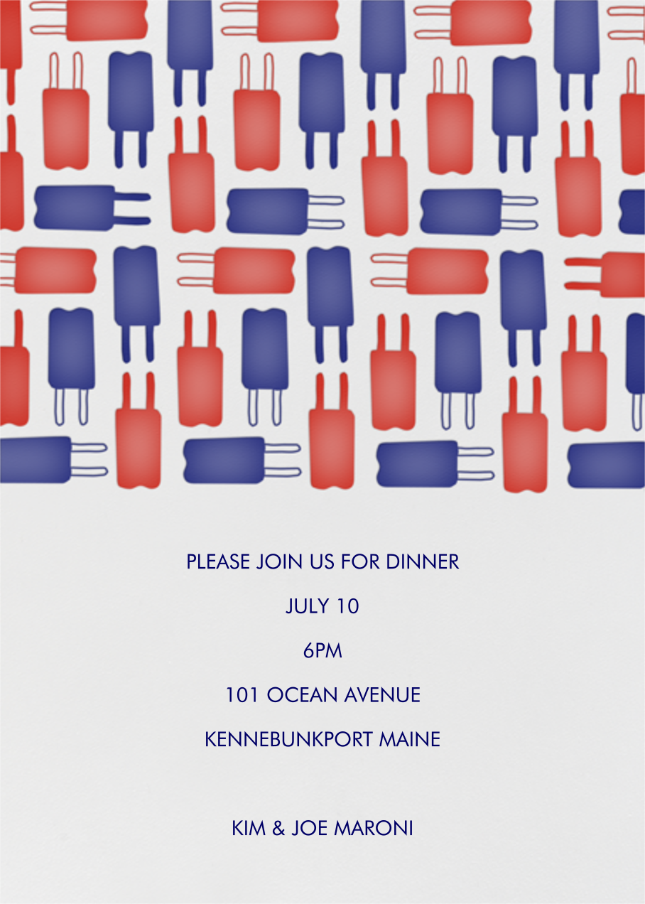 Popsicle Pattern - Red & Blue - Linda and Harriett - Beach party