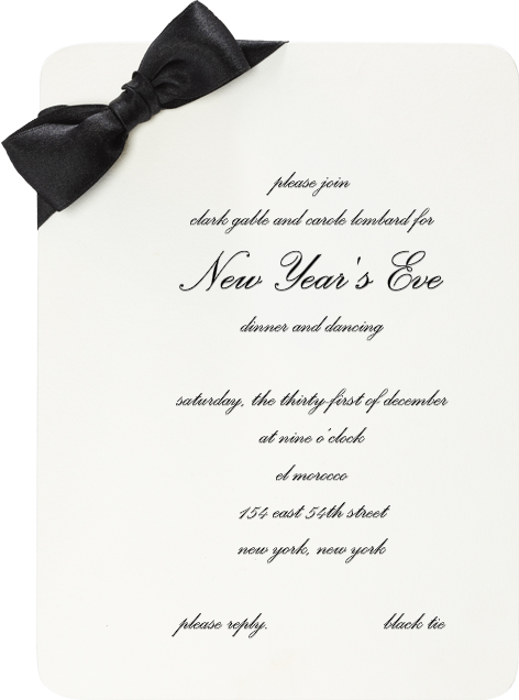 Saint Honore - Paperless Post - New Year's Eve