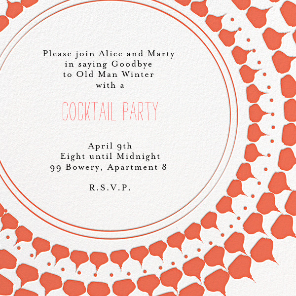 Spec in Capri - Coral  - Mr. Boddington's Studio - Cocktail party