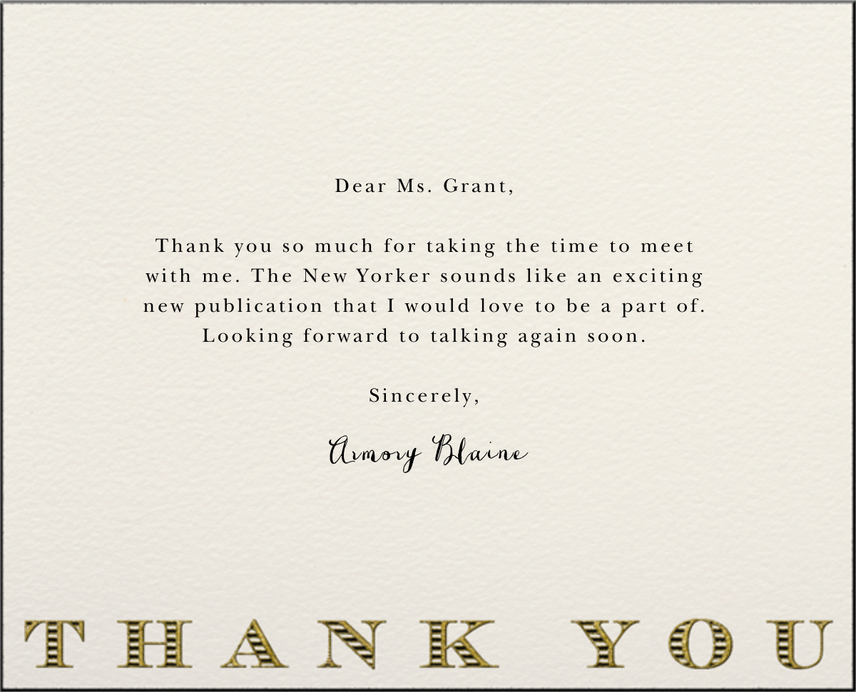Striped Thank You (Black) - Paperless Post - General