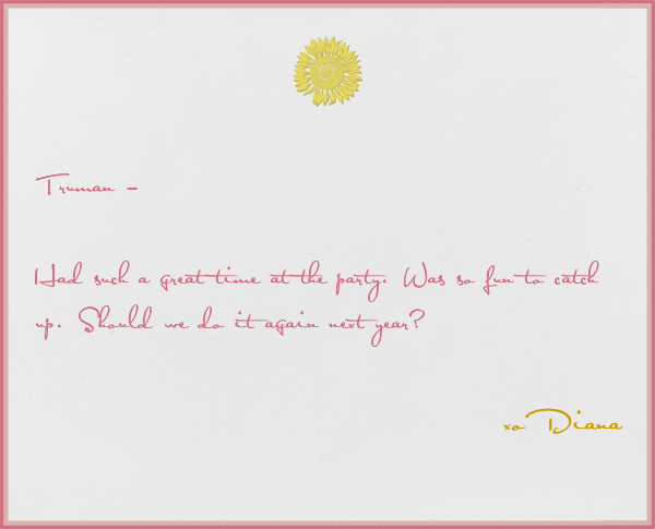 Sunflower - Paperless Post - Personalized stationery