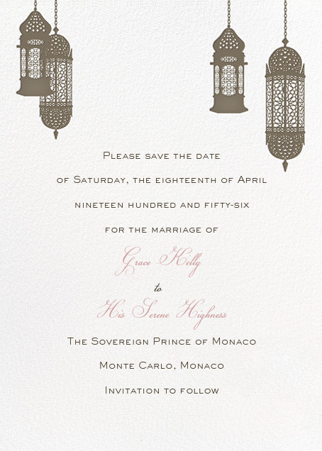 Tangiers - Clay - Paperless Post - Save the date