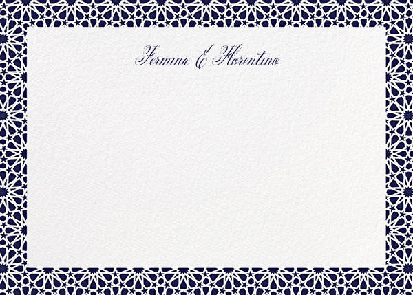 Rabat (Stationery) - Midnight - Paperless Post - Personalized stationery