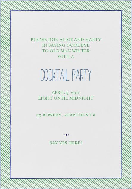 The Prepster - Great Scot - Mr. Boddington's Studio - Cocktail party