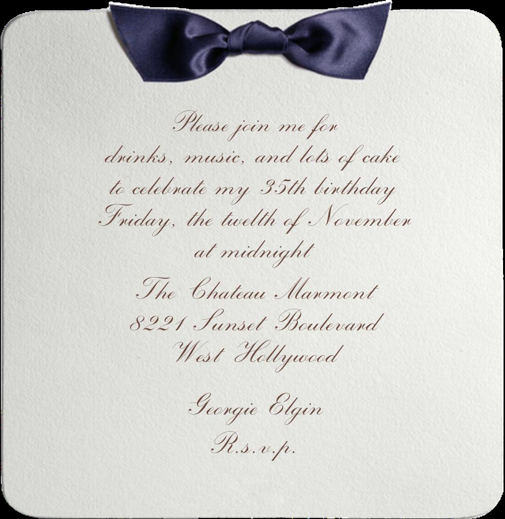 Tuxedo - Blue - Paperless Post - Adult birthday