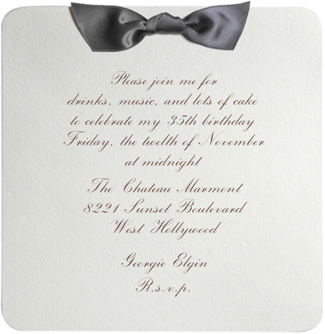 Tuxedo - Gray - Paperless Post - Adult birthday