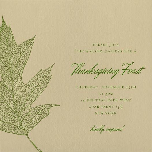 Oak - green - Paperless Post - Thanksgiving