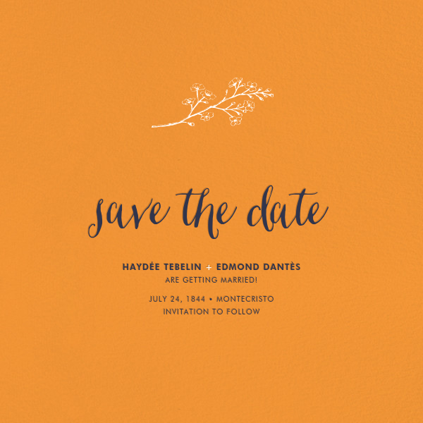 Tangelo (Save the Date) - Paperless Post - Classic