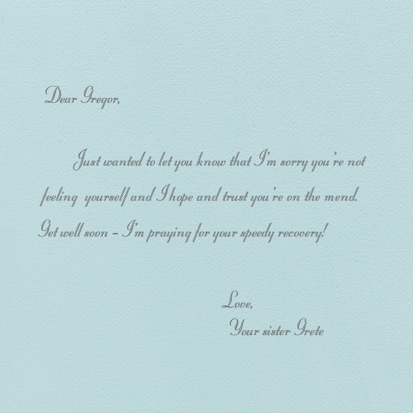 Hydrangea - Thinking of You (Light Blue) - Paperless Post - Sympathy - card back