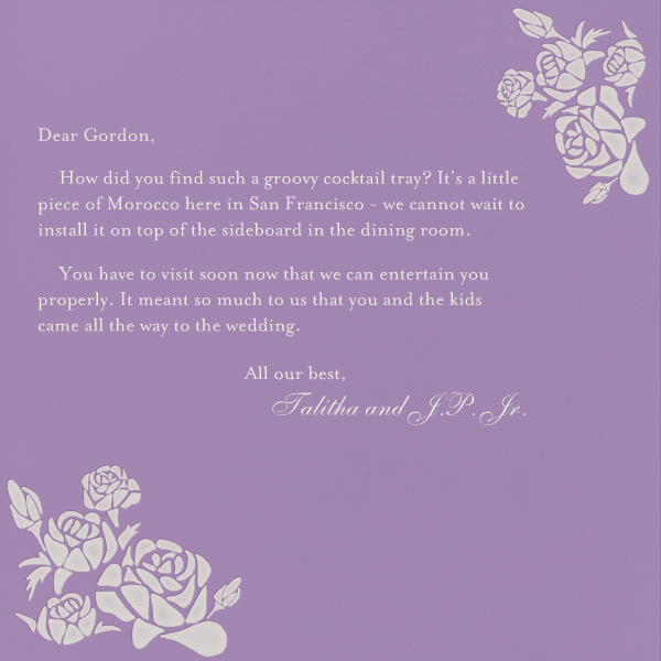 Roses- Lilac with Oyster (Square) - Paperless Post