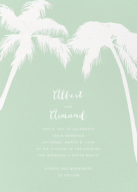 Tropical Palm - Mint - Paperless Post - All