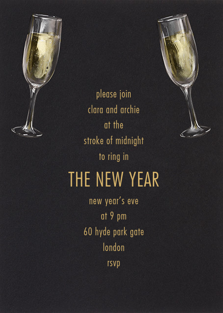 Champagne Glasses - Paperless Post - New Year's Eve