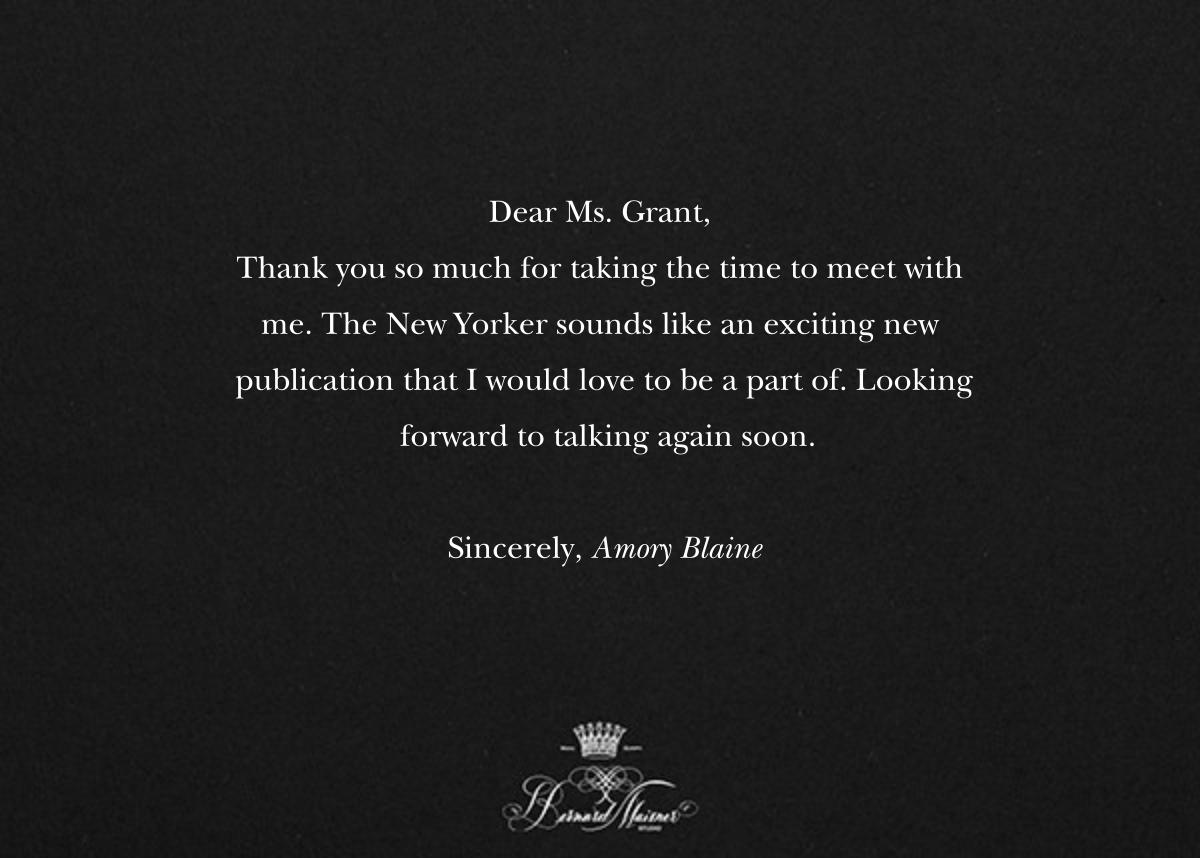 Thank You - Black - Bernard Maisner - Thank you - card back