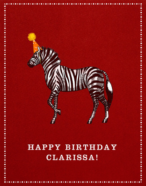 Zebra Birthday - Paperless Post - Birthday