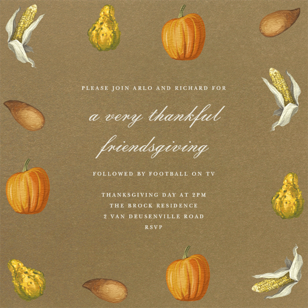 Thanksgiving Food - Paperless Post - Thanksgiving
