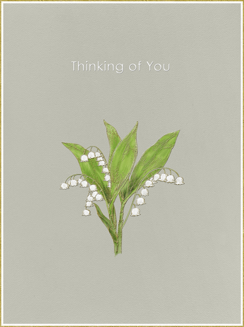 Lily of The Valley - Thinking of You (Warm Gray) - Paperless Post - Sympathy