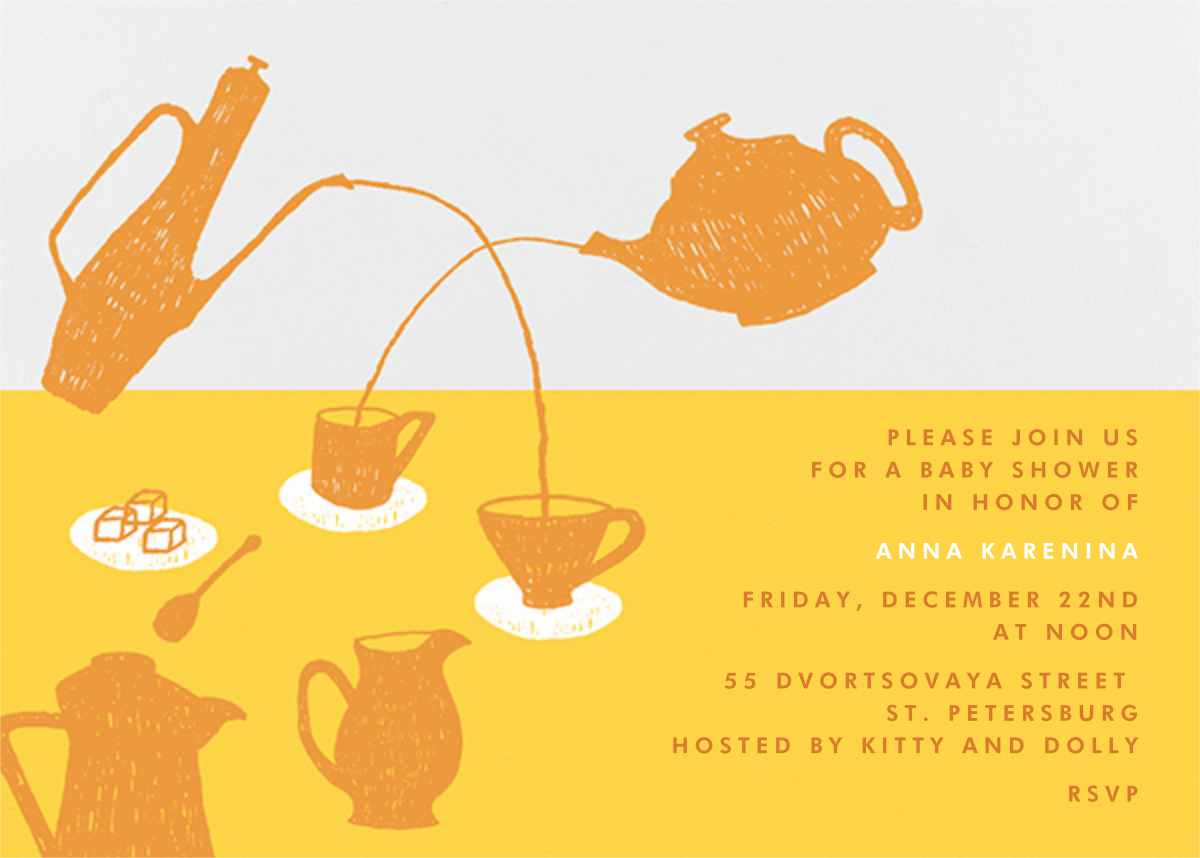 Pour Me A Cup - (Citrus And Mango) - Paperless Post - Baby shower