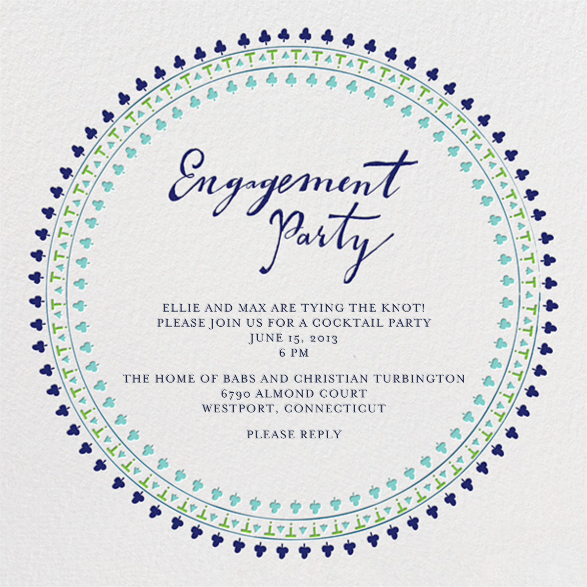 Are You Engaged - Greens - Mr. Boddington's Studio - Engagement party