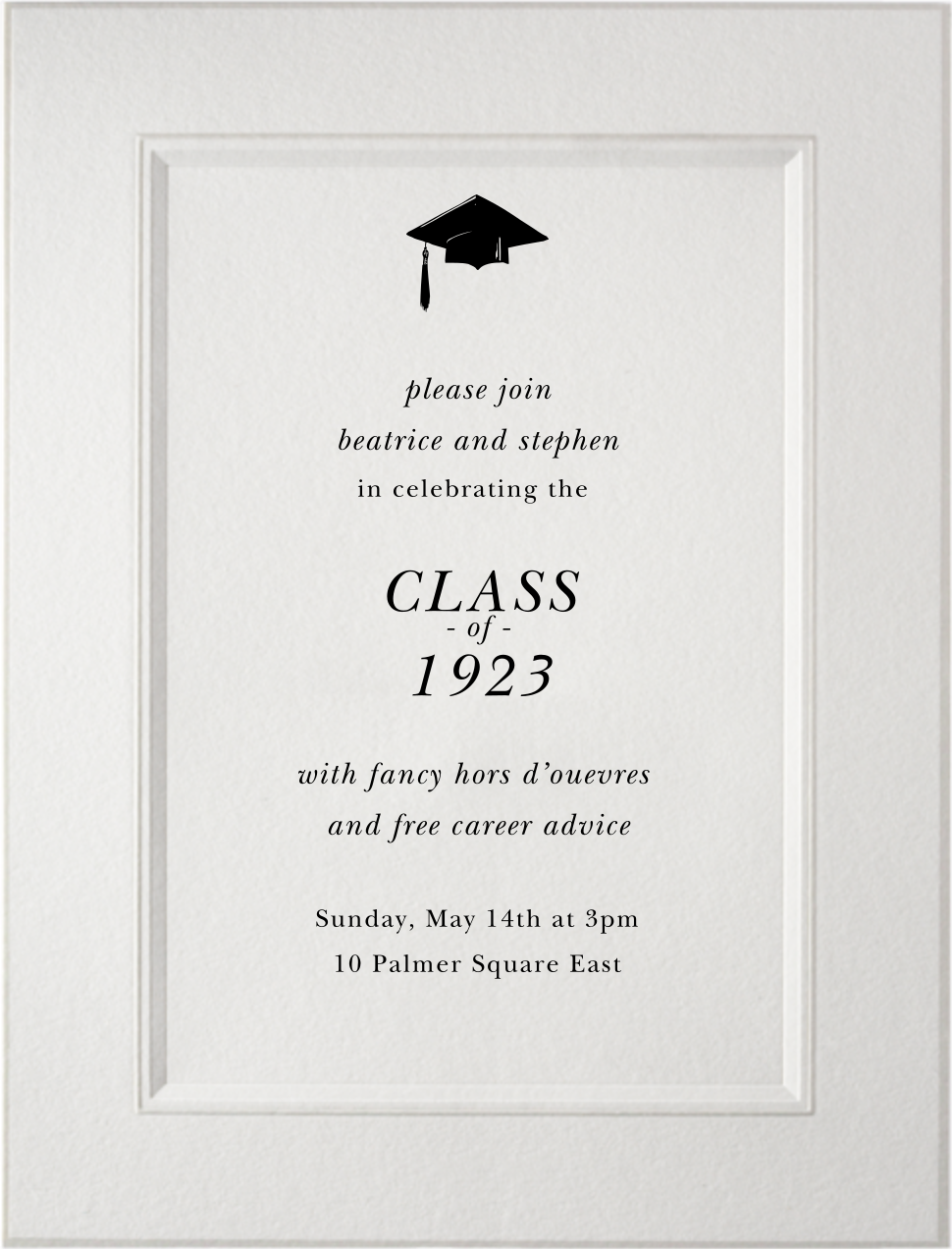 Ionic - Paperless Post - Graduation party