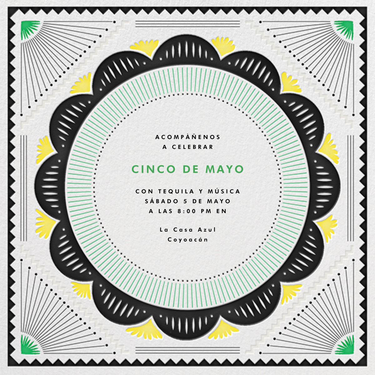 Santa Fe - Green/Yellow - The Indigo Bunting - Cinco de Mayo